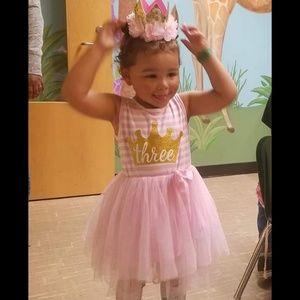Other - 3rd Birthday Dress & Crown